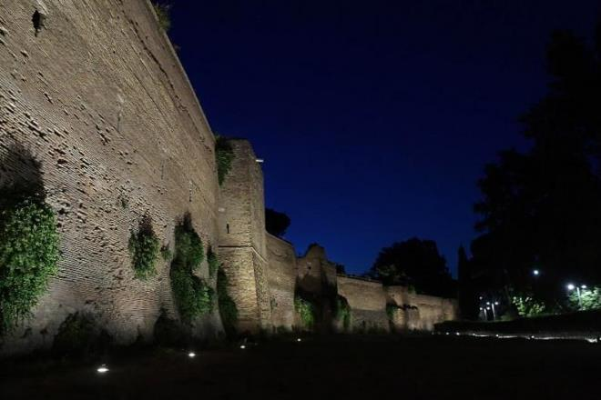 CEIT installa il nuovo impianto di illuminazione delle Mura Aureliane